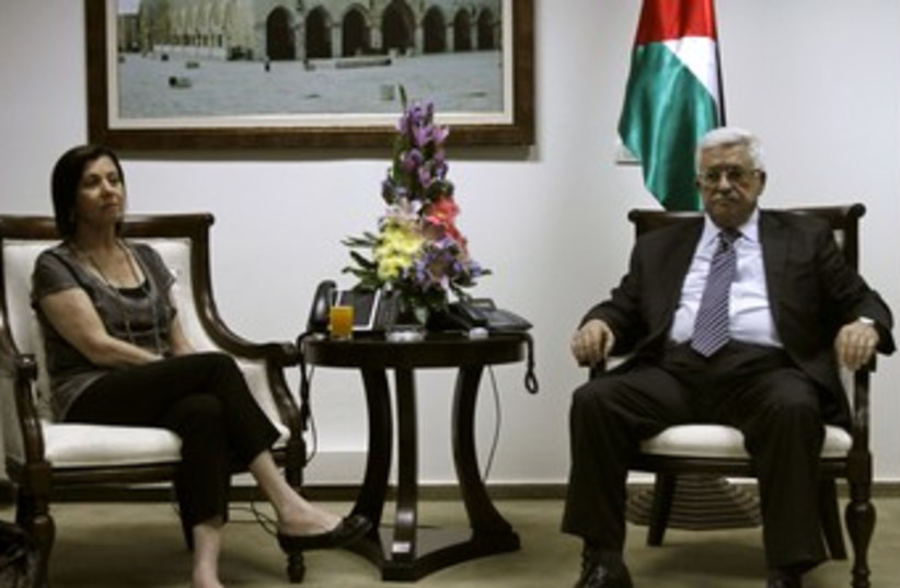 Abbas and Gal-On 370 (photo credit: reuters)