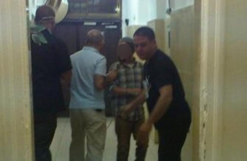 Bat Ayin youth arrested over firebombing 370 (photo credit: Melanie Lidman)