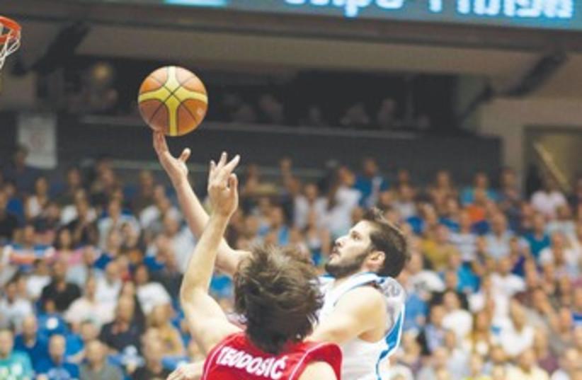 CASSPI scores against Serbia 370 (photo credit: Asaf Kliger)