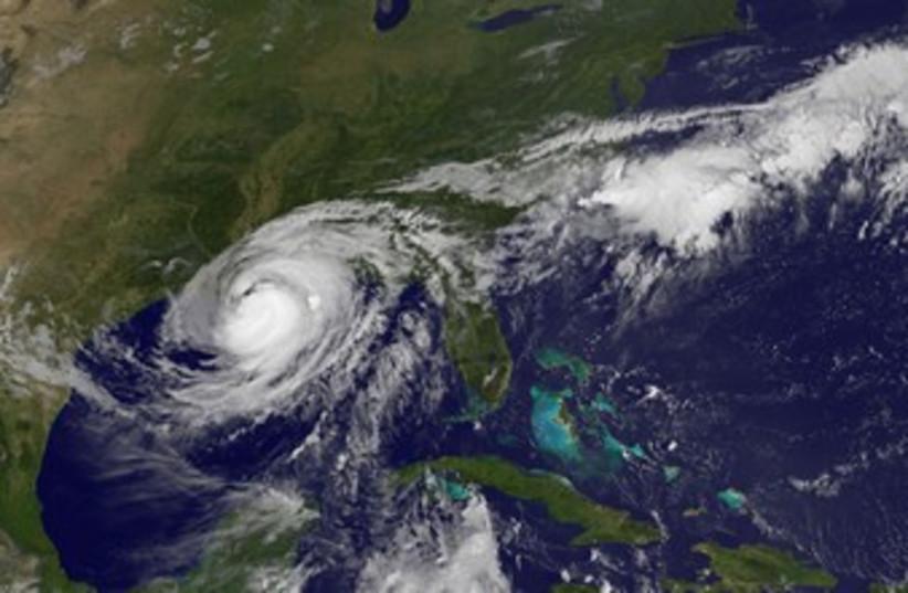 Hurricane Isaac in the Gulf of Mexico 370 (photo credit: REUTERS/NASA NASA)