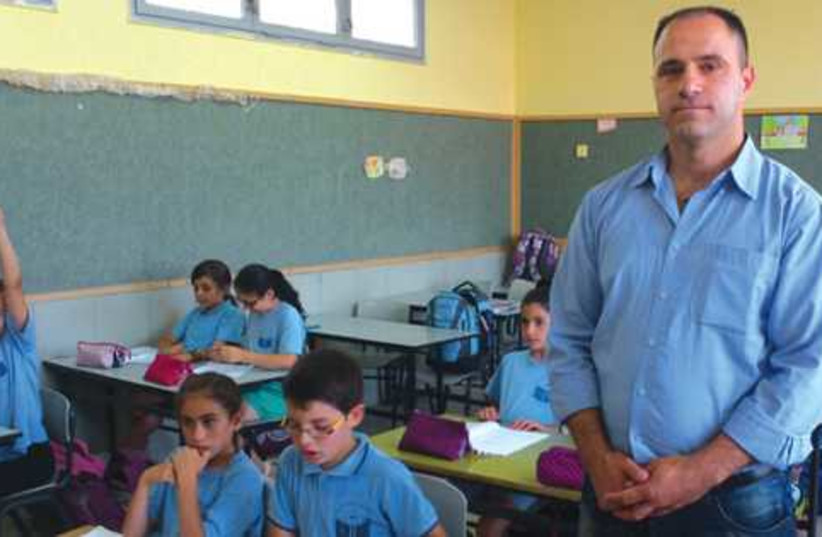 teaching Aramaic in a Jish classroom 521 (photo credit: JUDITH SUDILOVSKY)