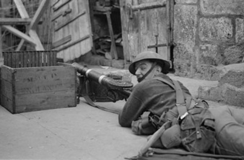 British army (photo credit: American Colony-Jerusalem-Photo Dept.)