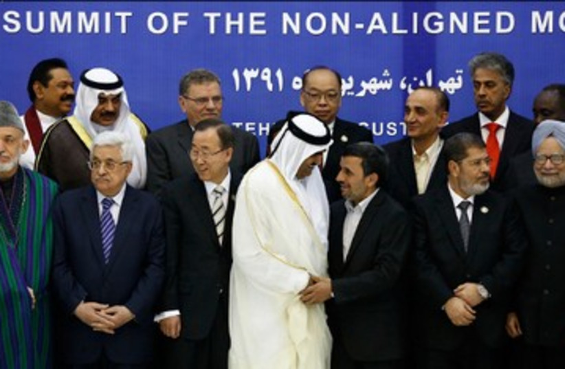 Leaders at Non-Aligned Movement NAM in Tehran 390 (photo credit: REUTERS)