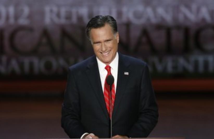 Romney accepts Republican nomination 370 (photo credit: REUTERS)