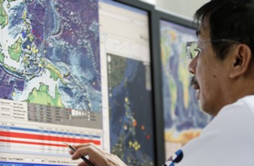 Seismology agency office in the Philippines 370 (R) (photo credit: Cheryl Ravelo / Reuters)