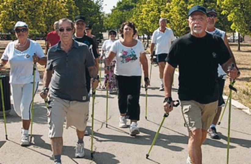 Pole walking 390 (photo credit: JDC-ESHEL)