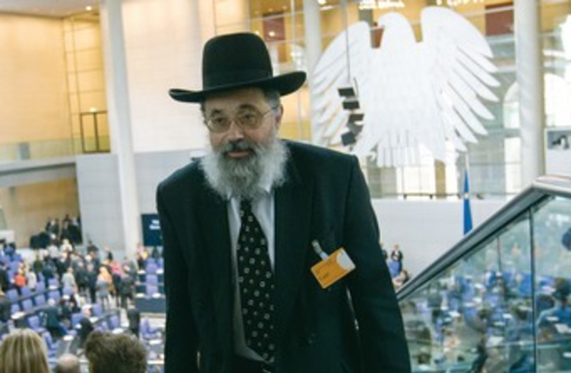 RABBI NETANIEL Wurmser of the Wurttemberg rabbinate 370 (photo credit: REUTERS)