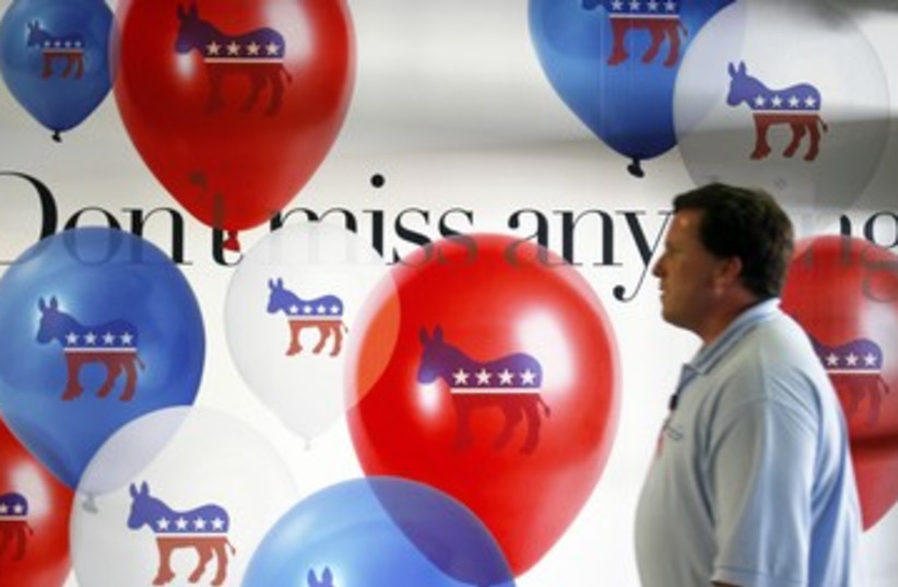 Democratic National Convention in Charlotte 390 (photo credit: REUTERS/Jessica Rinaldi)