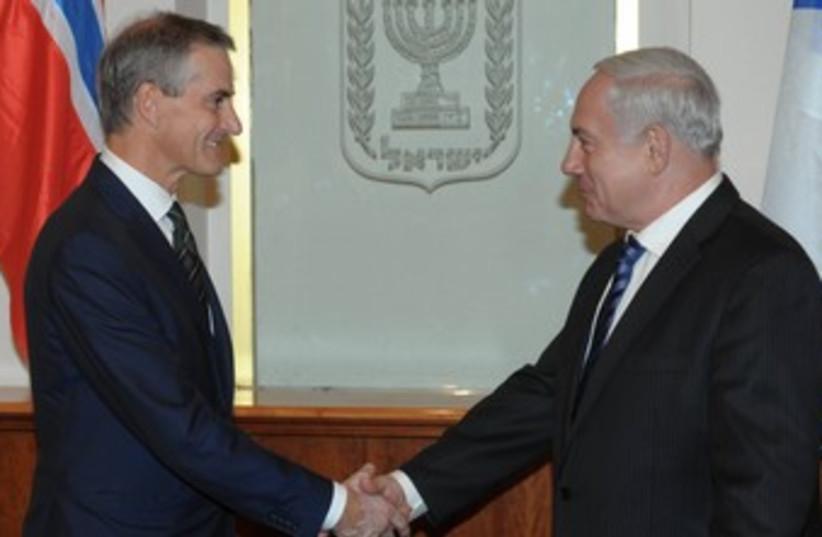PM Netanyahu with Italian FM Terzi 370 (photo credit: GPO / Amos Ben-Gershom)