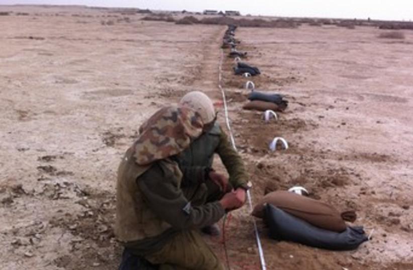 Mines in Jordan Valley (370) (photo credit: Courtesy IDF)