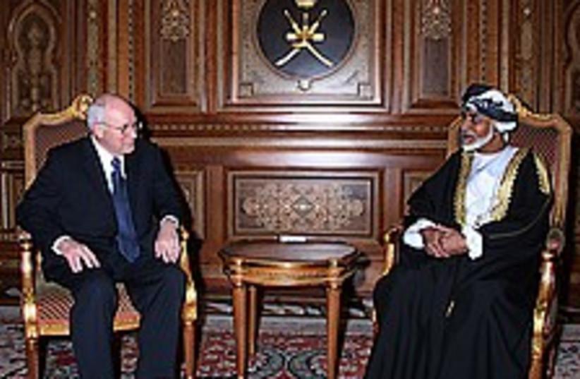 Cheney Oman 224 88 AP (photo credit: AP)