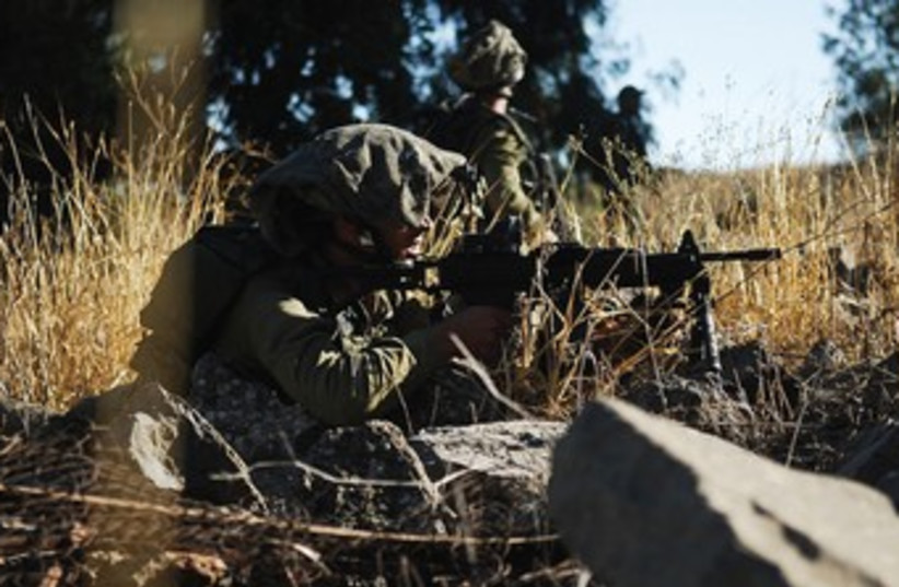 Golani Fighters 370 (photo credit: Abir Sultan/IDF Spokesman)