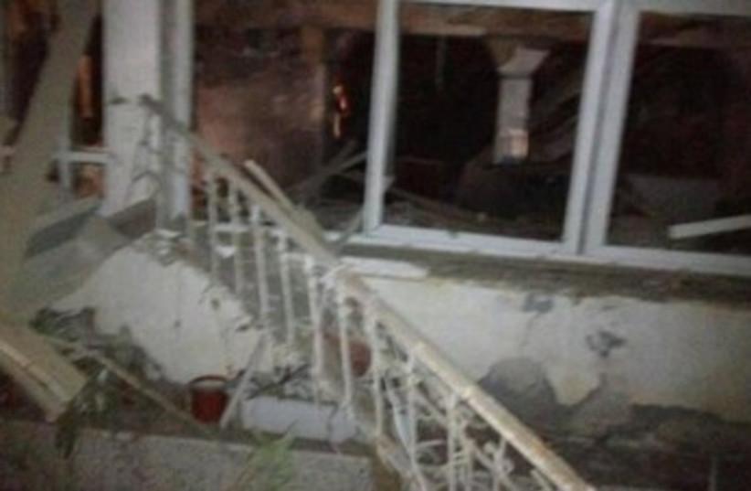 Netivot home damaged by Gazan Grad rocket 370 (photo credit: Courtesy IDF)