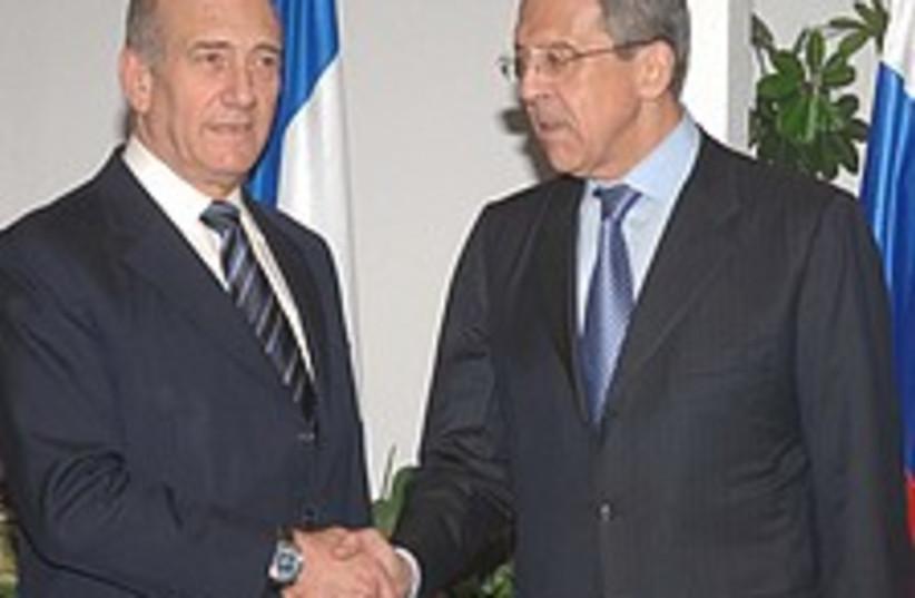 Olmert Lavrov 224.88 (photo credit: GPO [file])