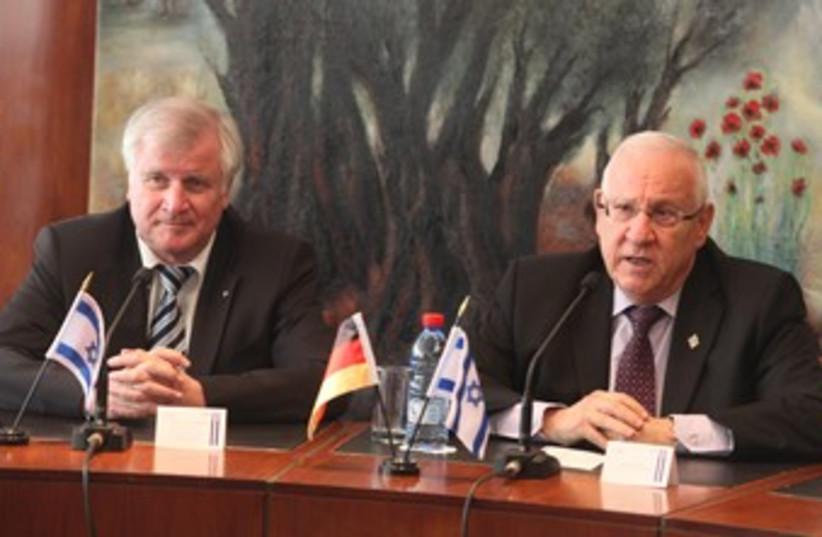 Reuven Rivlin with German counterpart Horst Seehofer 370 (photo credit: Itzik Harari / Knesset Spokesman)