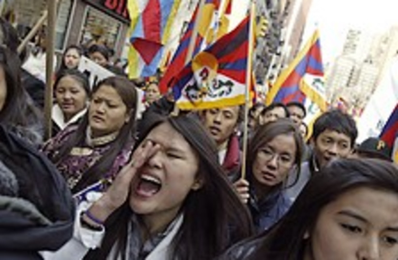 tibet rally US 224.88 ap (photo credit: AP)