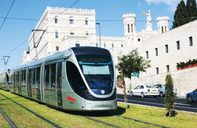 Jerusalem light rail 521 (photo credit: Marc Israel Sellem)