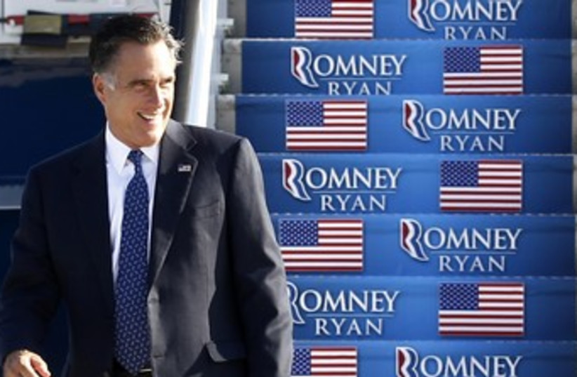 Republican candidate Mitt Romney in Virginia 370 (R) (photo credit: Jim Young / Reuters)