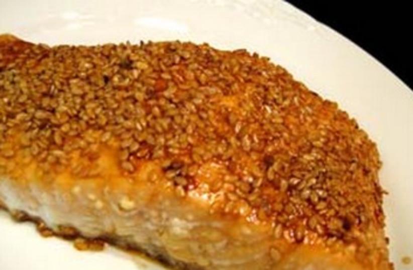 Sesame Crusted Salmon 370 (photo credit: Courtesy)