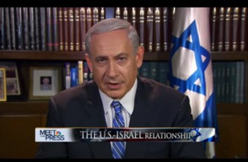 Netanyahu Meet the Press NBC (370) (photo credit: Screenshot)