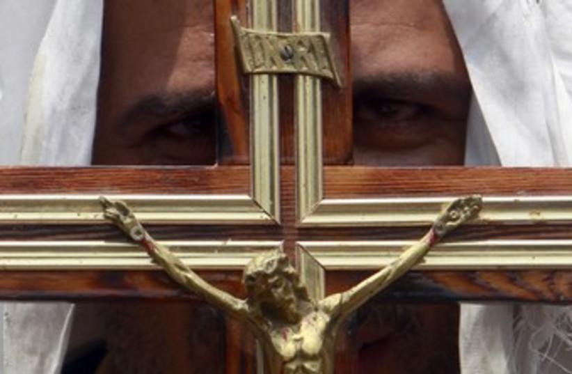 Coptic Christian Cross R370 (photo credit: REUTERS/Amr Dalsh)