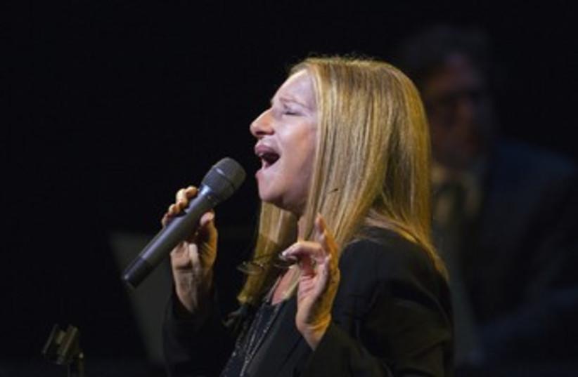 Barbra Streisand performs during Marvin Hamlisch tribute 370 (photo credit: REUTERS/Lucas Jackson)