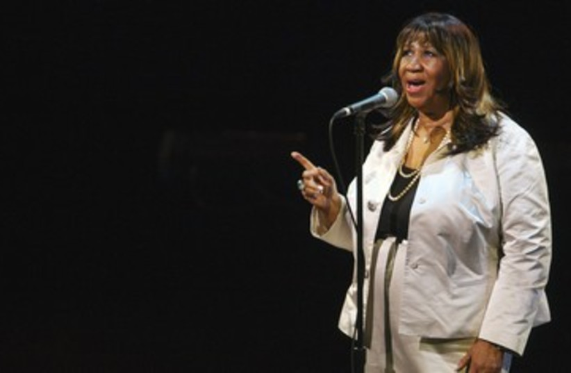 Aretha Franklin performs during Marvin Hamlisch tribute 300 (photo credit: REUTERS/Lucas Jackson)