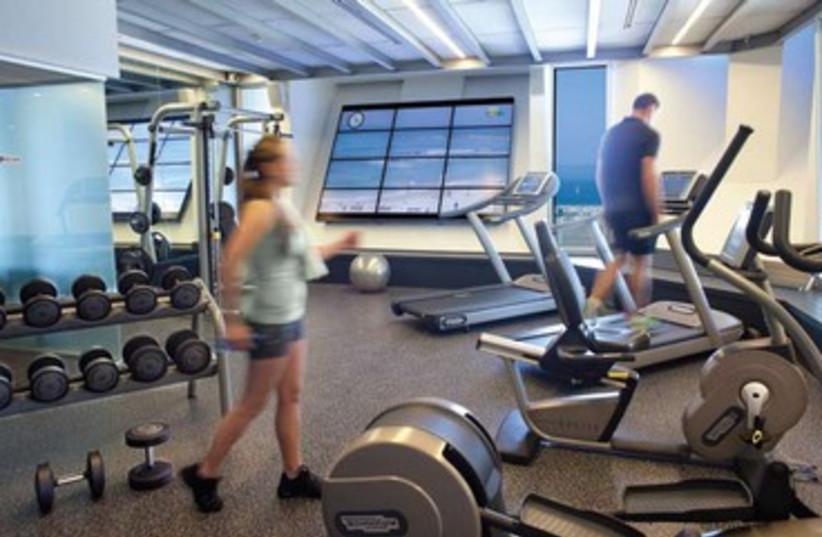 Carlton Hotel gym (photo credit: Courtesy Carlton Hotel)