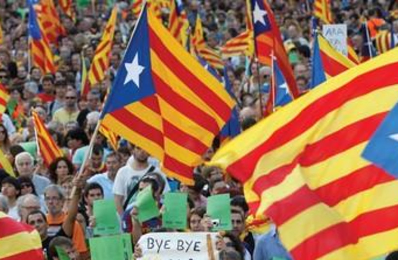 Catalonia Protests 370 (photo credit: REUTERS)