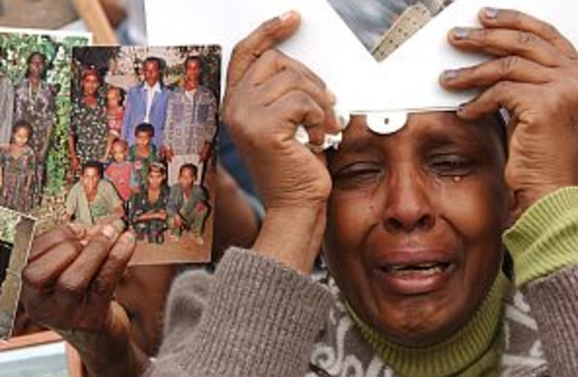 ethiopian protest  (photo credit: Ariel Jerozolimski)