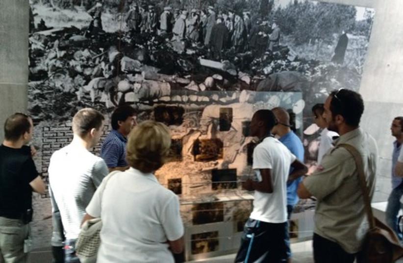 Tour of Yad Vashem 521 (photo credit: Dara Frank)