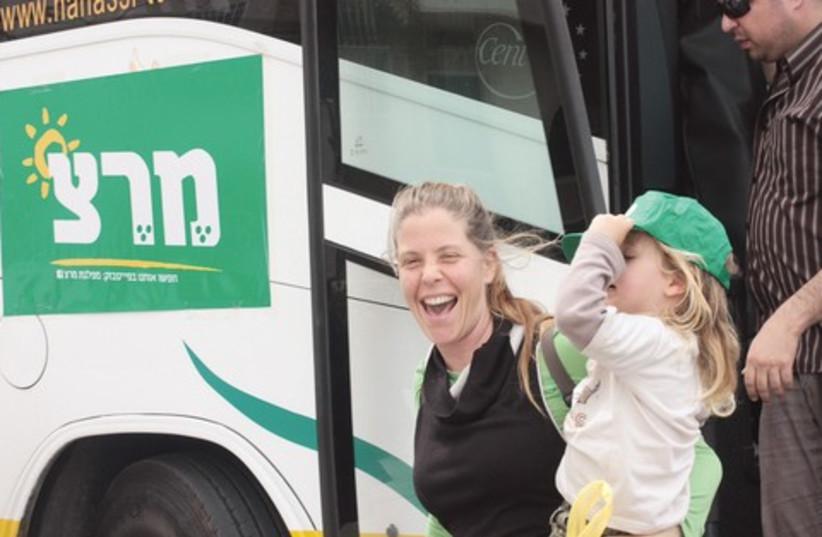 Meretz Bus 521 (photo credit: Courtsey Meretz)