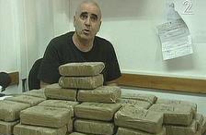 heroin seizure 224.88 (photo credit: Channel 2)