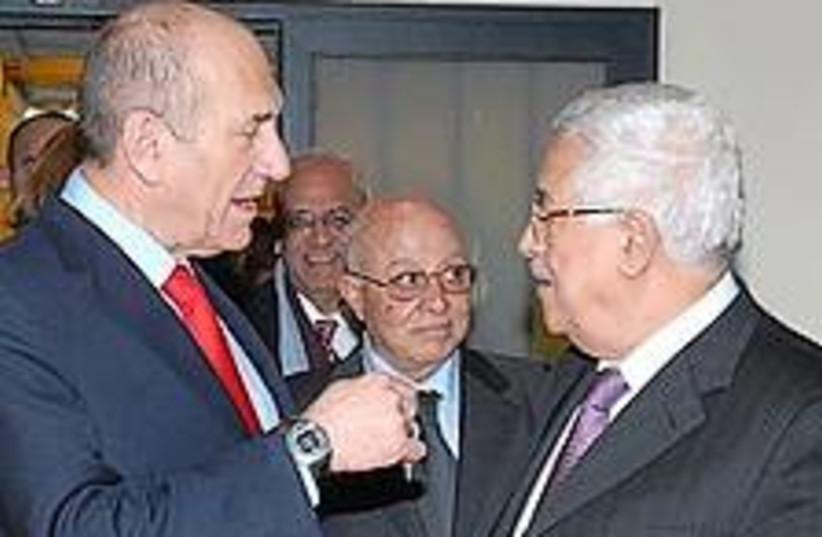 olmert abbas argue 224 (photo credit: GPO)