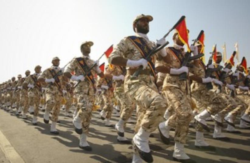 Iranian military parade 370 (photo credit: REUTERS/Stringer Iran)
