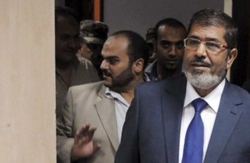 Egyptian President Mohamed Morsy 370 (R) (photo credit: REUTERS)