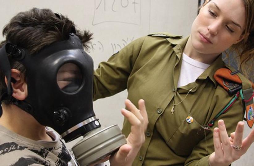 IDF Gas Mask preparedness drill 521 (photo credit: IDF)