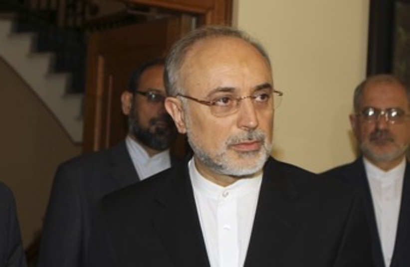 Iranian Foreign Minister Ali Akbar Salehi 370 (R) (photo credit: Andreas Manolis / Reuters)