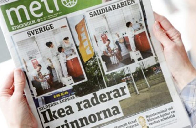 Ikea Saudi Arabia Newspaper (photo credit: REUTERS/Scanpix Scanpix)