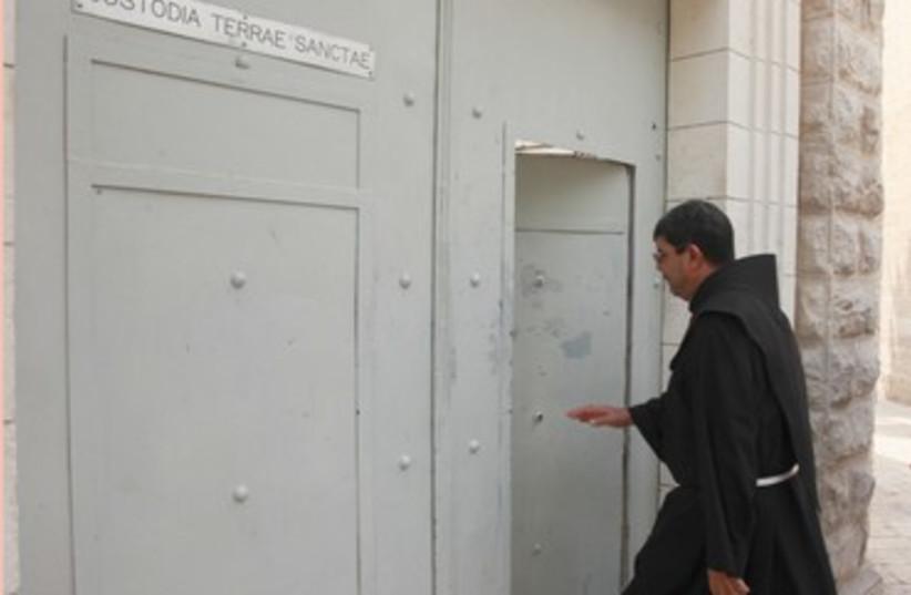 Christian monk enters convent