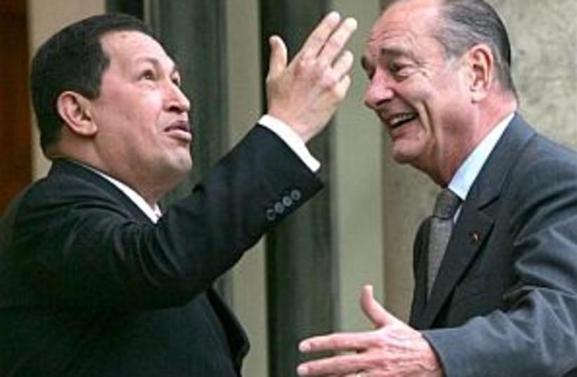 chirac and chavez 298 ap (photo credit: AP)