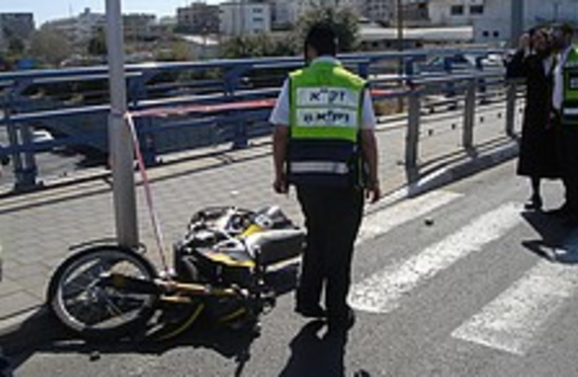 motorcycle accident 224  (photo credit: ZAKA)