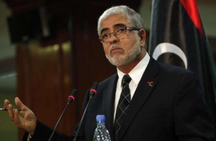 Libyan Prime Ministe Mustafa Abushagur 390 (photo credit: REUTERS/Ismail Zetouni)