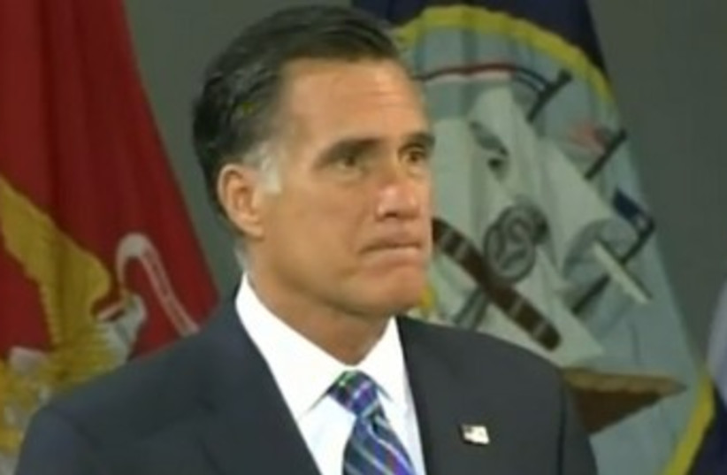 Romney delivers major foreign policy speech 370 (photo credit: Screenshot)