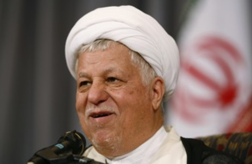 Former Iranian president Akbar Hashemi Rafsanjani 370 (photo credit: REUTERS/Raheb Homavandi)