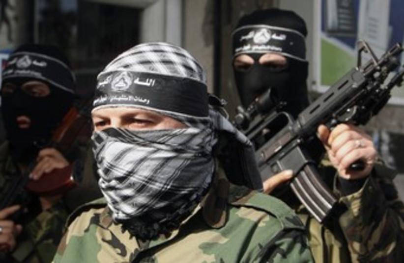 Al-Aqsa brigades of Fatah gunmen 370 (photo credit:   REUTERS/Mohammed Salem)