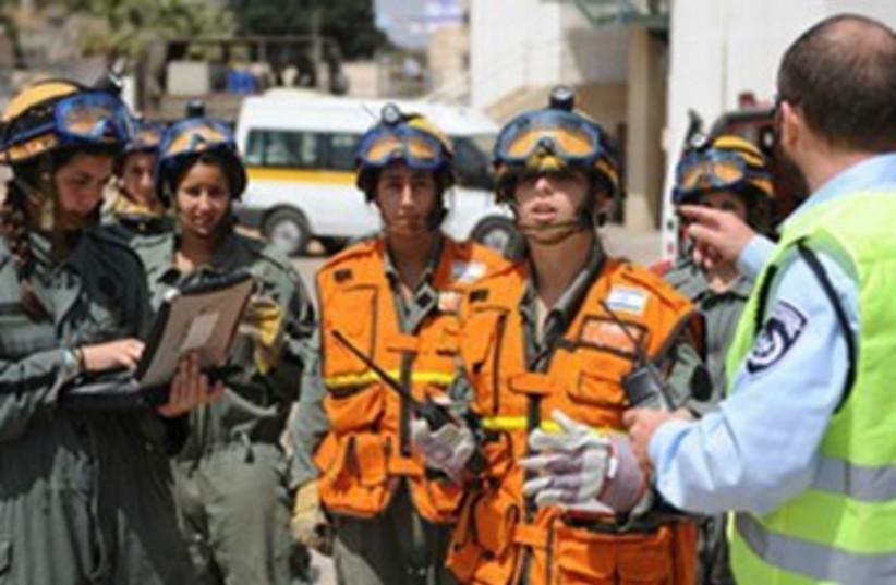 IDF emergency drill 370 (photo credit: Courtesy IDF)
