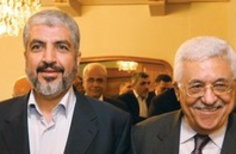 Abbas and Hamas leader 300 (photo credit: Reuters)