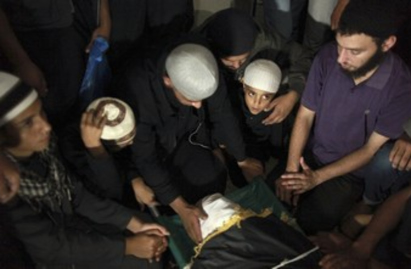 Funeral for Gaza terrorist killed by IDF (photo credit: reuters)