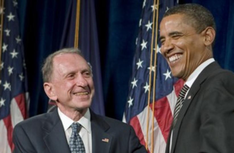 Arlen Specter, Barack Obama 370 (photo credit: REUTERS/Larry Downing)